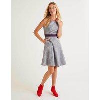 Matilda Textured Dress Blue Women Boden, Navy