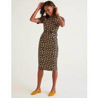 Louise Textured Dress Yellow Women Boden, Yellow