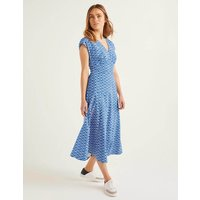 Natasha Cotton Dress Blue Women Boden, Blue