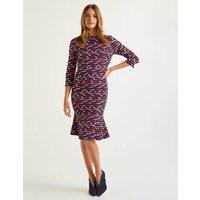 Violette Dress Navy, Ribbons Women Boden, Navy, Ribbons