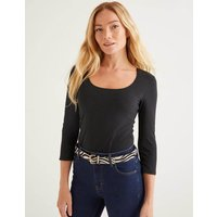 Double Layer Front Top Black Women Boden, Black