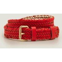 Woven Leather Belt Red Women Boden, Navy
