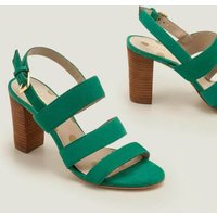 Samantha Heeled Sandals Green Women Boden, Green