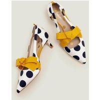 Mollie Kitten Heels Yellow Women Boden, Ivory