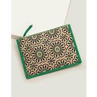 Boden Mariana Embroidered Clutch Green Women Boden, Green
