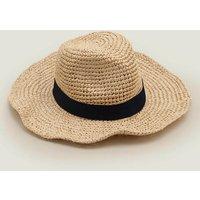 Straw Hat Ivory Women Boden, Ivory