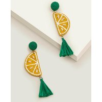 Boden Raffia Tassel Earrings Yellow Women Boden, Yellow