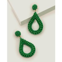 Beaded Teardrop Earrings Green Women Boden, Green
