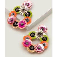 Boden Sequin Flower Earrings Multi Women Boden, Multicouloured