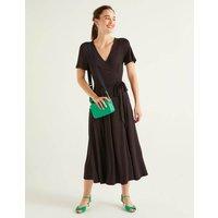 Cassia Jersey Midi Dress Black Women Boden, Black