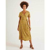 Cassia Jersey Midi Dress Yellow Women Boden, Yellow