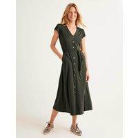 Frances Jersey Midi Dress Khaki Women Boden, Khaki