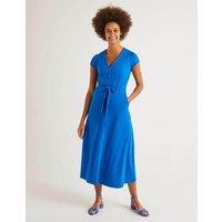 Frances Jersey Midi Dress Blue Women Boden, Blue