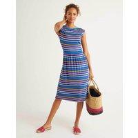 Eleanor Jersey Dress Multi Women Boden, Blue