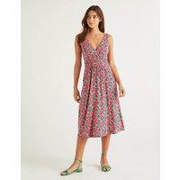 Effie Jersey Dress Bright Camellia, Lemon Fruit Women Boden, Bright Camellia, Lemon Fruit