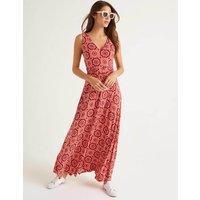 Sienna Jersey Maxi Dress Post Box Red, Sun Tile Boden, Post Box Red, Sun Tile