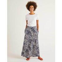 Jersey Maxi Skirt Blue Women Boden, Navy
