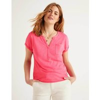 The Cotton Turn Up Cuff Tee Pink Women Boden, Camel