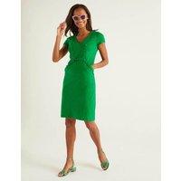 Saskia Jersey Trim Dress Green Women Boden, Green