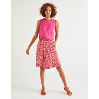 Edie Jersey Skirt Red Women Boden, Navy