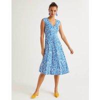 Odilie Jersey Dress Blue Women Boden, Blue