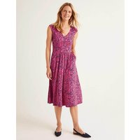 Odilie Jersey Dress Pink Women Boden, Camel