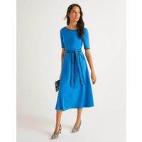 Ruby Ponte Midi Dress Blue Women Boden, Blue