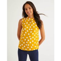Thomasina High Neck Top Yellow Women Boden, Ivory