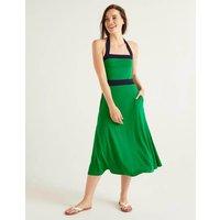 Santorini Jersey Dress Rich Emerald Women Boden, Rich Emerald