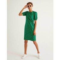 Boden Zoe Jersey T-shirt Dress Green Women Boden, Gold