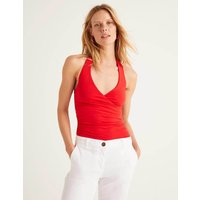 Tess Halterneck Jersey Top Red Women Boden, Red