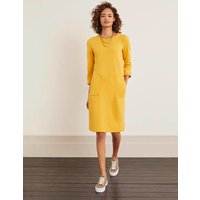Hannah Sweatshirt Dress Yellow Women Boden, Yellow