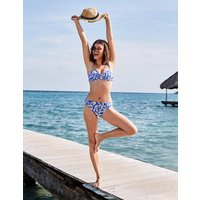 Ischia Bandeau Bikini Top Blue Women Boden, Blue