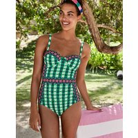 Samos Cup-size Swimsuit Green Women Boden, Green
