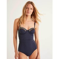 Boden Samos Cup-size Swimsuit Multi Women Boden, Navy