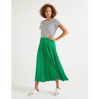 Kristen Pleated Skirt Green Women Boden, Green