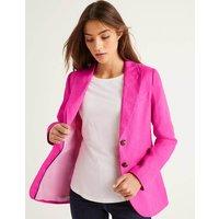 Carrington Linen Blazer Pink Women Boden, Multicouloured
