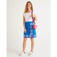 Anville Embroidered Wrap Skirt Blue Women Boden, Blue