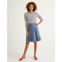 Virginia Linen Skirt Grey Women Boden, Grey