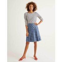 Virginia Linen Skirt Grey Women Boden, Grey