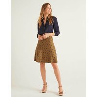 Virginia Linen Skirt Brown Women Boden, Brown