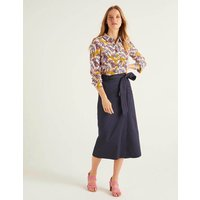 Pevensie Pencil Wrap Skirt Navy Women Boden, Navy