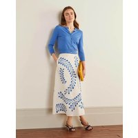 Arwen Embroidered Midi Skirt Ivory Women Boden, Ivory