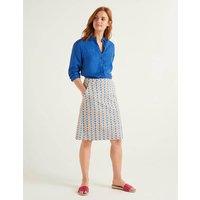 Francesca A-line Skirt Ivory, Plumeria Women Boden, Ivory, Plumeria