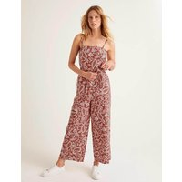 Colette Linen Jumpsuit Red Women Boden, Red