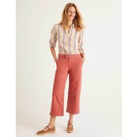 Wide Leg Crop Jeans Rouge Women Boden, Rouge