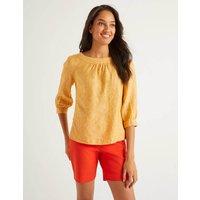 Lavinia Linen Top Yellow Women Boden, Yellow