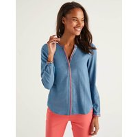 Clea Embroidered Top Blue Women Boden, Blue