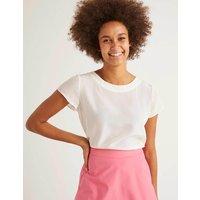 Polly Silk T-Shirt Ivory Women Boden, Ivory