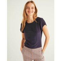 Polly Silk T-Shirt Navy Women Boden, Navy